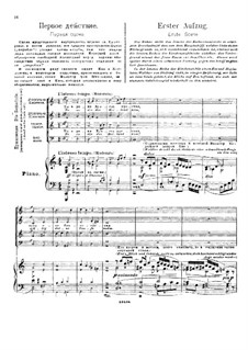 Fragments: Act I, for soloists, choir and piano by Richard Wagner