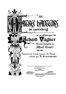 Fragments: Introduction and Act I, for soloists, choir and piano by Richard Wagner