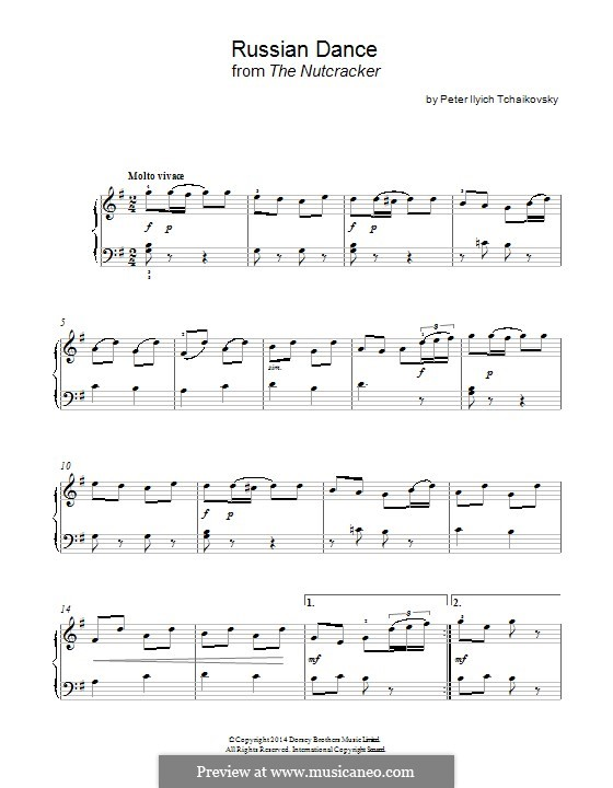 No.4 Russian Dance (Trepak): For piano by Pyotr Tchaikovsky