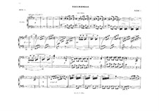 Act I. Bacchanale: For piano four hands – parts by Richard Wagner