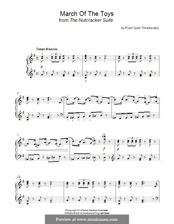 No.2 March: For piano by Pyotr Tchaikovsky