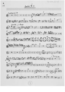 Cantata No.8 to Words from Schiller: Orchestral Parts by Ernst Levy