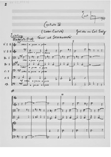 Cantata No.9 'Lieder-Cantate': Full score by Ernst Levy