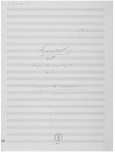 Concerto sur 'Auprès de ma blonde': Composer's Sketches by Ernst Levy
