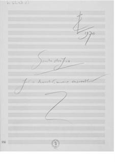 Sonata Strofica for a Chamber Music Ensemble: Composer's Sketches by Ernst Levy