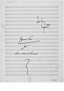 Trio No.2 for Violin, Viola and Cello: Full score by Ernst Levy