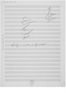 Trio No.2 for Violin, Viola and Cello: Composer's Sketches by Ernst Levy
