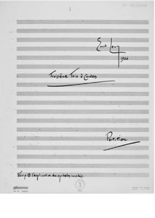 Trio No.3 for Violin, Viola and Cello: Full score by Ernst Levy