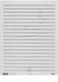 Trio No.3 for Violin, Viola and Cello: Composer's Sketches by Ernst Levy