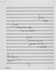 Sonata for Three Violin Parts Performed Solistically or Orchestrally: Full score by Ernst Levy