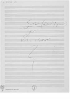 Suite for Violin and Cello: Composer's Sketches by Ernst Levy