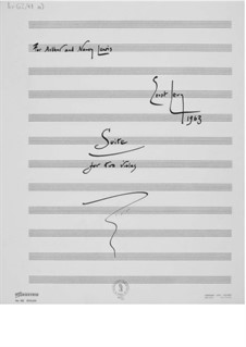 Suite for Two Violas: Full score by Ernst Levy