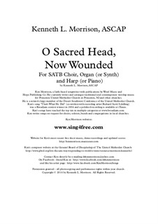 O Sacred Head Now Wounded: For choir, strings and piano (or organ) by Hans Leo Hassler