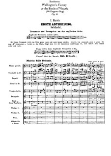 Wellington's Victory, or the Battle of Vitoria, Op.91: Movement I by Ludwig van Beethoven