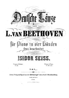 German Dances: For piano four hands by Ludwig van Beethoven