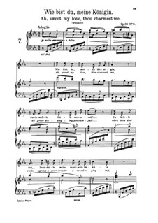 Nine Songs, Op.32: No.9 Wie bist du, meine Königin (How Are You, My Queen) E flat Major by Johannes Brahms