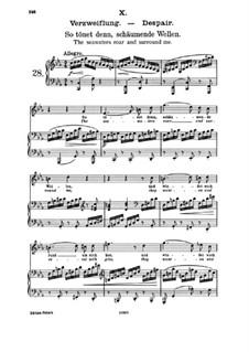 Fifteen Romances, Op.33: No.10 Despair. So Resound then, Foaming Waves by Johannes Brahms