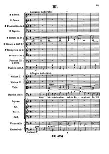 A German Requiem, Op.45: Movement III by Johannes Brahms
