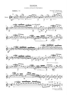 Elegia, Op.26 No.2: Elegia by Alexander Khodakovsky