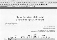 Fly on the wings of the wind: For guitar with tab by Alexander Borodin