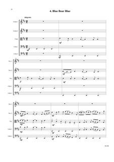 Sweet Suite: Blue Boar Blue for string quintet by David W Solomons