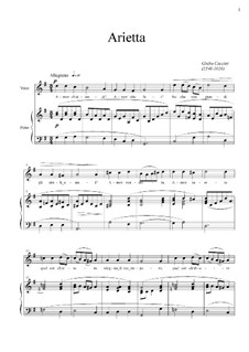 Amor ch' attendi? (Le nuove musiche): For voice and piano – score, vocal part by Giulio Caccini