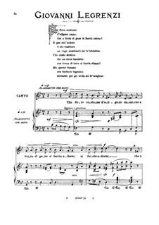 Che fiero costume: Medium voice in G Minor by Giovanni Legrenzi