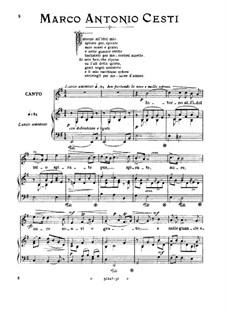 Orontea: Intorno all'idol mio (medium-low voice in E Minor) by Pietro Antonio Cesti