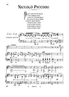 O notte, dea del mister: Medium-low voice in E Minor by Nicola Piccini