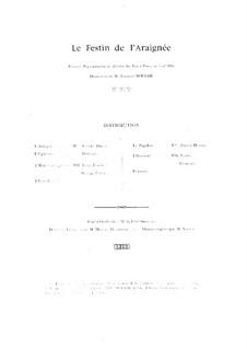 Le festin de l'araignée (The Spider's Feast), Op.17: Piano score by Albert Roussel