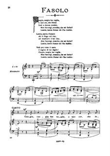 Cangia tue voglie, o mio cor: High voice in C Major by Giovanni Fasolo
