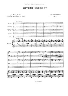 Divertissement for Piano and Winds, Op.6: Full score by Albert Roussel