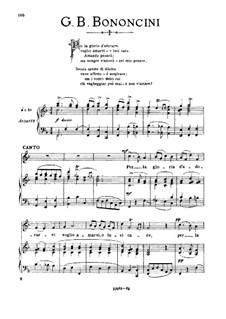 Griselda: Per la gloria d'adorarvi, medium voice in F Major by Giovanni Maria Bononcini