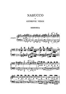 Overture: For piano by Giuseppe Verdi