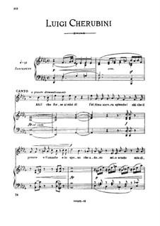 Ahi! forse ai miei dì, Medium-high Voice in D Flat Major: Ahi! forse ai miei dì, Medium-high Voice in D Flat Major by Luigi Cherubini