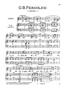Se cerca, se dice, Medium Voice in A Minor: Se cerca, se dice, Medium Voice in A Minor by Giovanni Battista Pergolesi