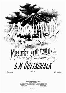 La scintilla (L'étincelle): For piano by Louis Moreau Gottschalk