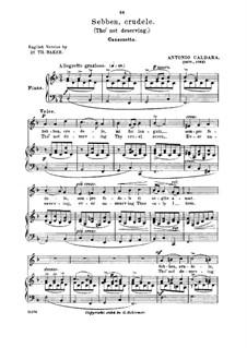 Sebben, crudele: Medium-low voice in D Minor by Antonio Caldara