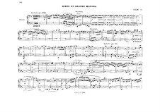 Act II. Scene and Grand March: Arrangement for piano four hands – parts by Richard Wagner