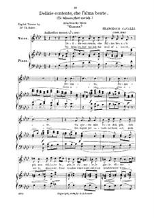 Delizie contente: Low voice in F Minor by Pietro Francesco Cavalli