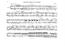 Act III. The Second Choir of Pilgrims: Arrangement for piano four hands – parts by Richard Wagner