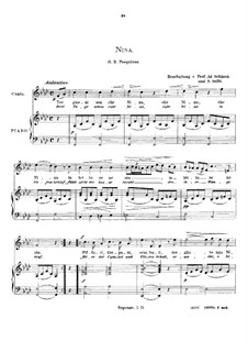 Tre giorni son che Nina: High voice in F Minor by Giovanni Battista Pergolesi