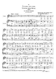 Vittoria, mio core: High voice in D Major by Giacomo Carissimi