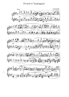 Fragments: Introduction to Act I, for piano by Richard Wagner