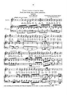 Dopo tante e tante pene (Cantata): Medium voice in G Minor by Benedetto Marcello