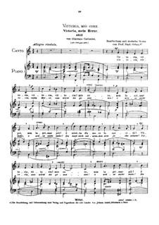 Vittoria, mio core: Medium voice in C Major by Giacomo Carissimi