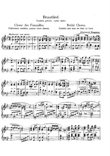 Bridal Chorus: For piano by Richard Wagner
