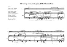 3 Songs based on the lyrics of Albert Samain: Song No.3, MVWV 770 by Maurice Verheul