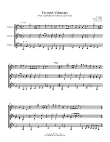 Trumpet Voluntary and Trumpet Tune: For guitar trio - score and parts by Jeremiah Clarke