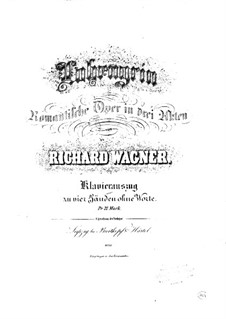 Fragments: Introduction to Act I, for piano four hands by Richard Wagner